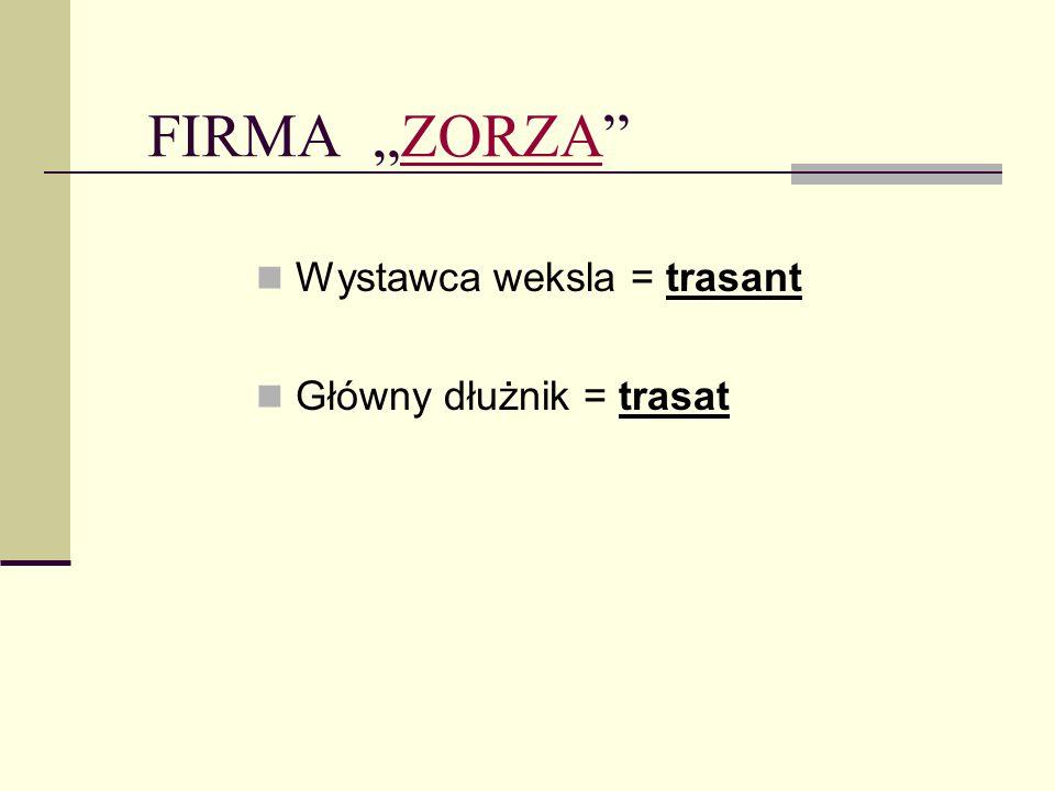 OBIEG WEKSLAWEKSLA FIRMA ZORZA BIURO PODRÓŻY FANTAZJA FIRMA GRACJA indos Regulacja zobowiązań