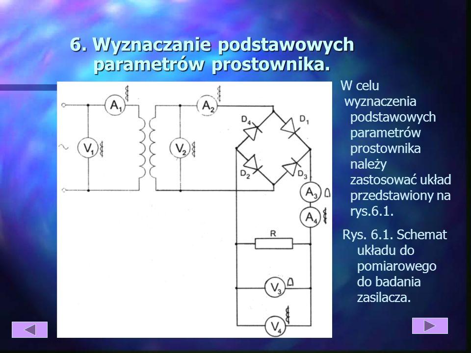 Rys 5.3 Prostownik trójfazowy mostkowy: a) schemat b) przebieg napięć i prądów