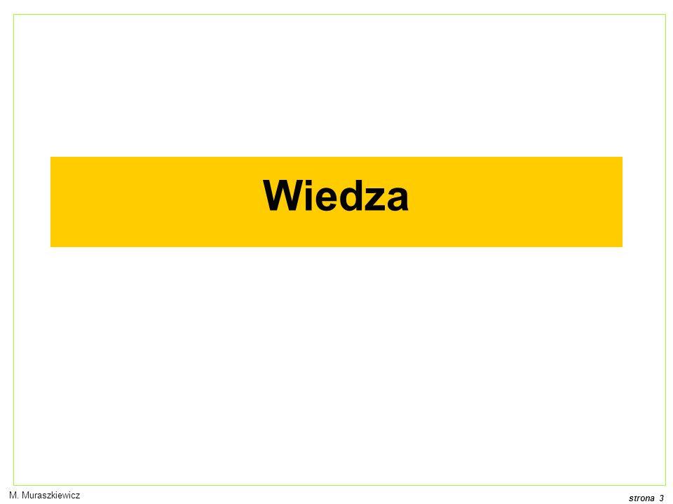 strona 3 M. Muraszkiewicz Wiedza