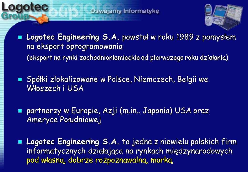 n Logotec Engineering S.A. powstał w roku 1989 z pomysłem na eksport oprogramowania (eksport na rynki zachodnioniemieckie od pierwszego roku działania