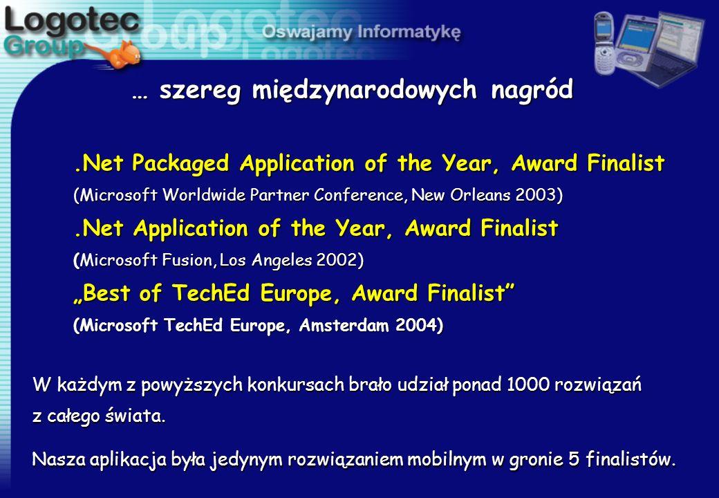 Logotec Mobile@Connector zwyciężył z cała międzynarodową w konkurencją otrzymując tytuł Best Development Tool for Pocket PC Wręczenie prestiżowych nagród odbyło się podczas Microsoft Mobile Developer Conference, Nowy Orlean, marzec 2003.