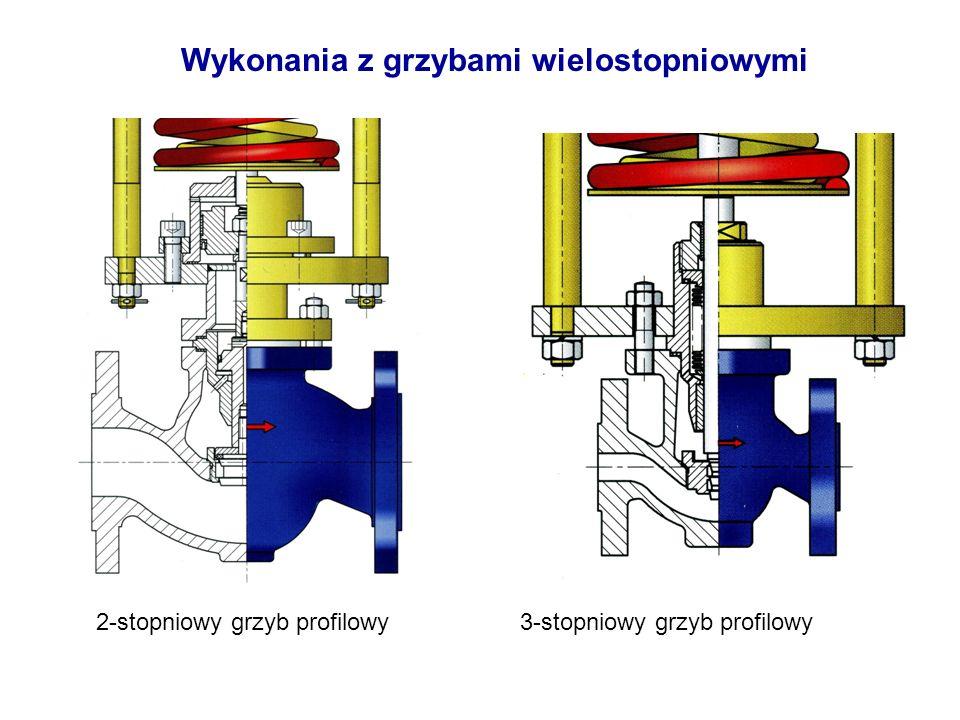 Wykonania z grzybami wielostopniowymi 2-stopniowy grzyb profilowy3-stopniowy grzyb profilowy
