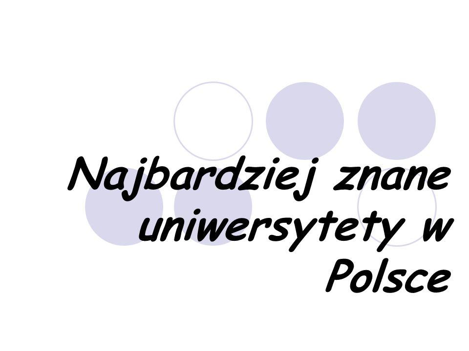 Najbardziej znane uniwersytety w Polsce