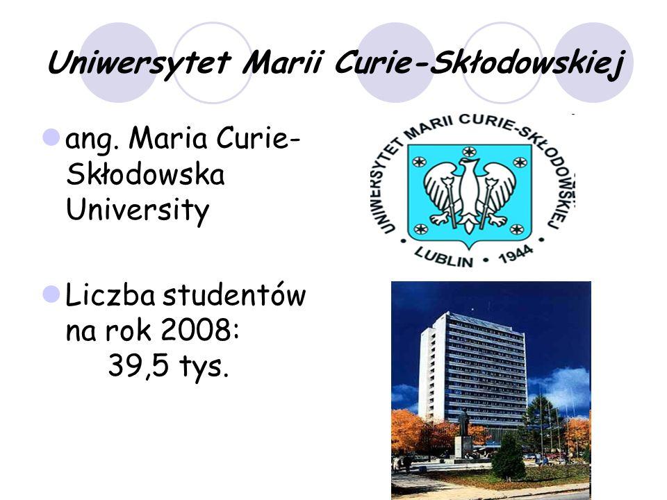 Uniwersytet Marii Curie-Skłodowskiej ang.