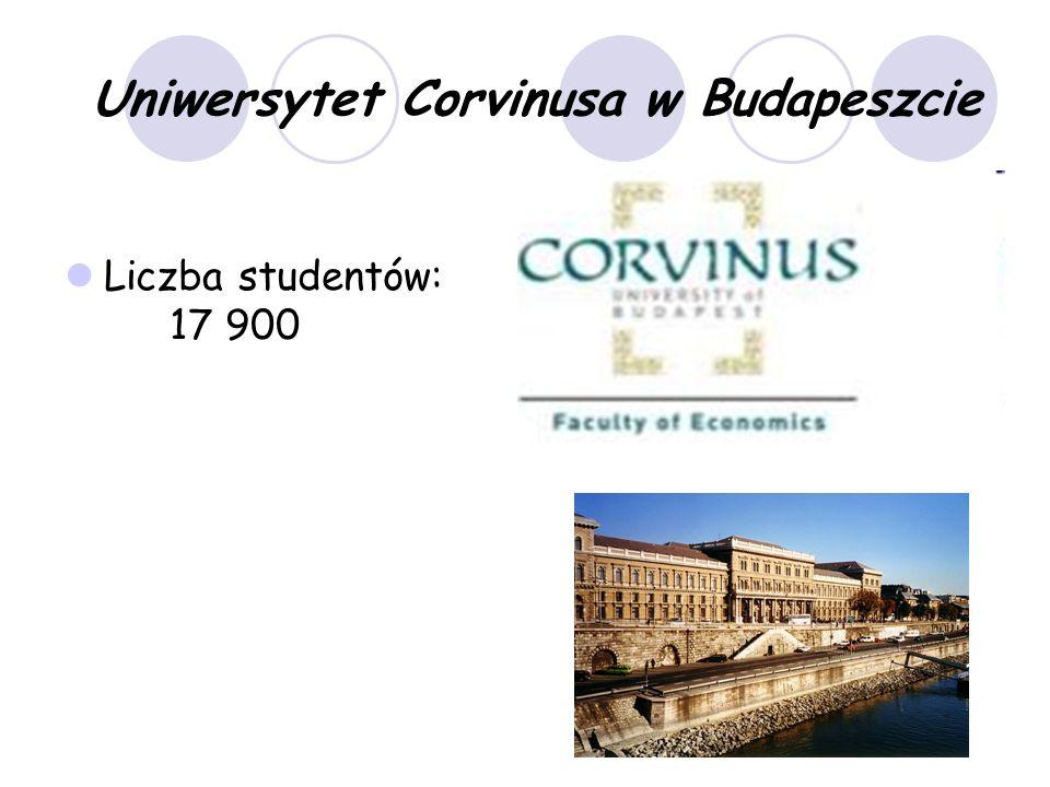 Uniwersytet Corvinusa w Budapeszcie Liczba studentów: 17 900