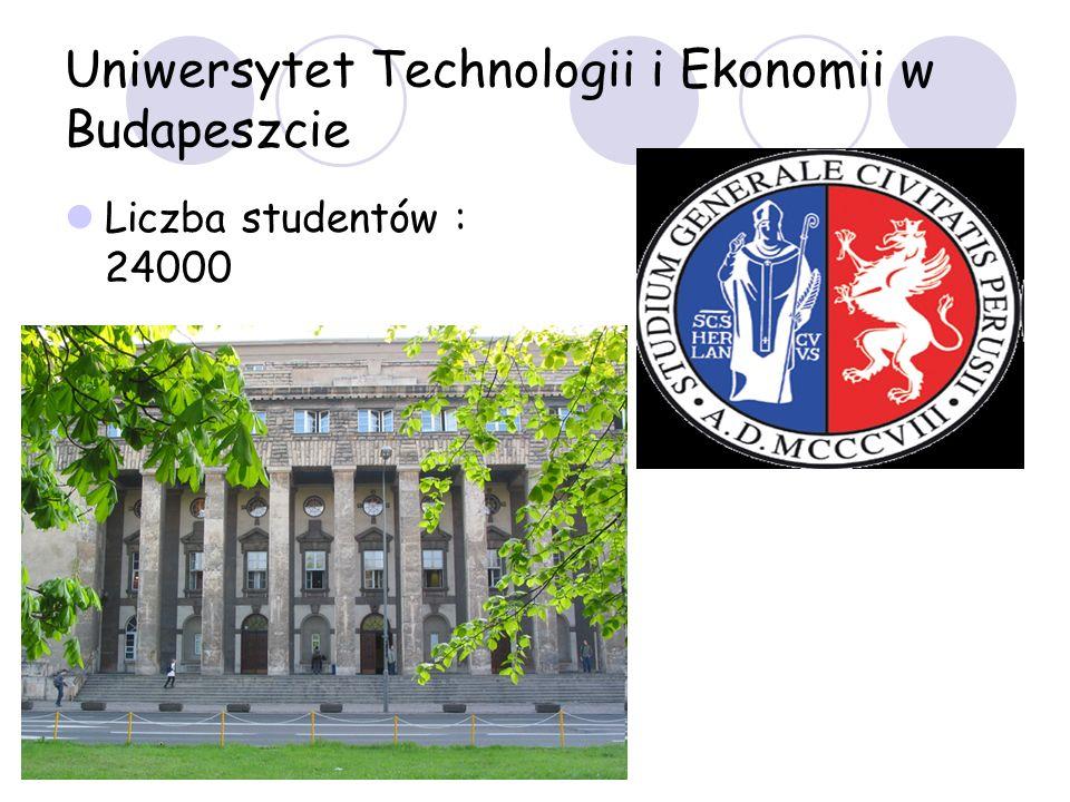 Uniwersytet Technologii i Ekonomii w Budapeszcie Liczba studentów : 24000
