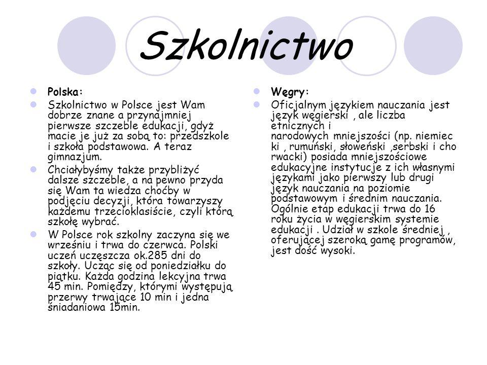 Szkolnictwo Polska: Szkolnictwo w Polsce jest Wam dobrze znane a przynajmniej pierwsze szczeble edukacji, gdyż macie je już za sobą to: przedszkole i szkoła podstawowa.