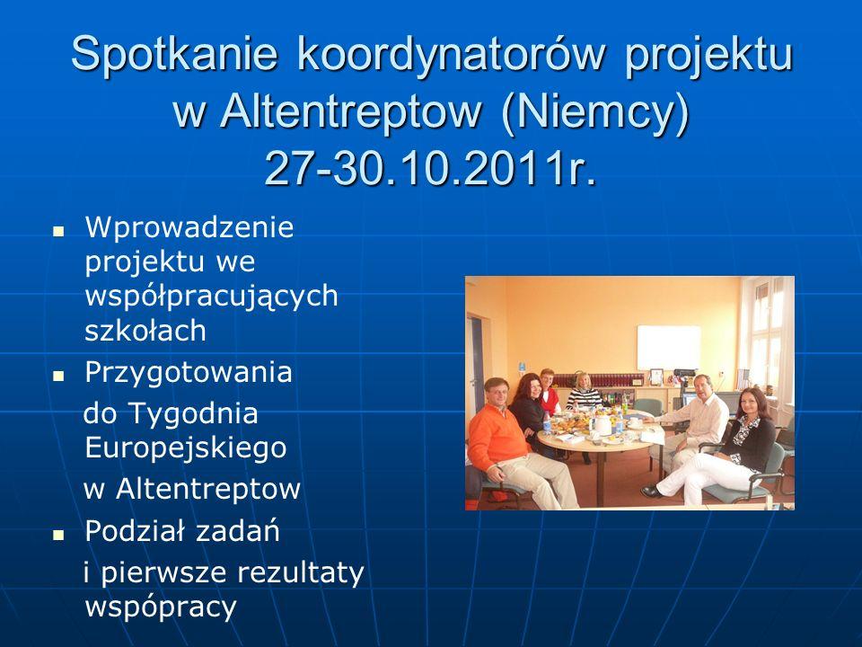 Spotkanie koordynatorów projektu w Altentreptow (Niemcy) 27-30.10.2011r.
