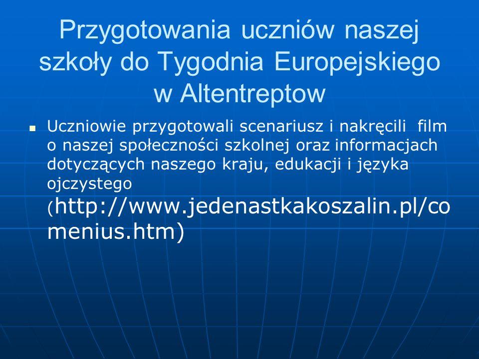 Praca nad projektem zadaniem każdej grupy było zobrazować treść hymnu, który powstał podczas Tygodnia Europejskiego w Estonii