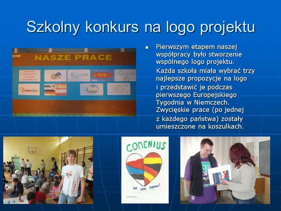 Szkolny konkurs na logo projektu Pierwszym etapem naszej współpracy było stworzenie wspólnego logo projektu.