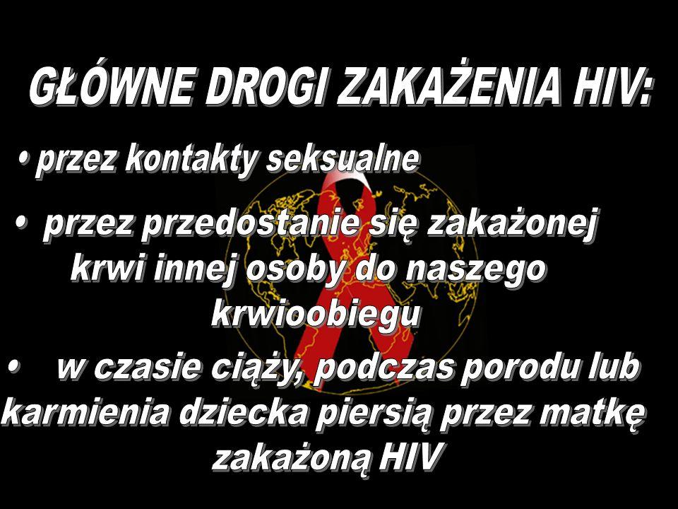 HIV - to skrót nazwy wirusa w języku angielskim: Human Immunodeficiency Virus. Wirus ten znajduje się przede wszystkim we krwi osób zakażonych, poza t