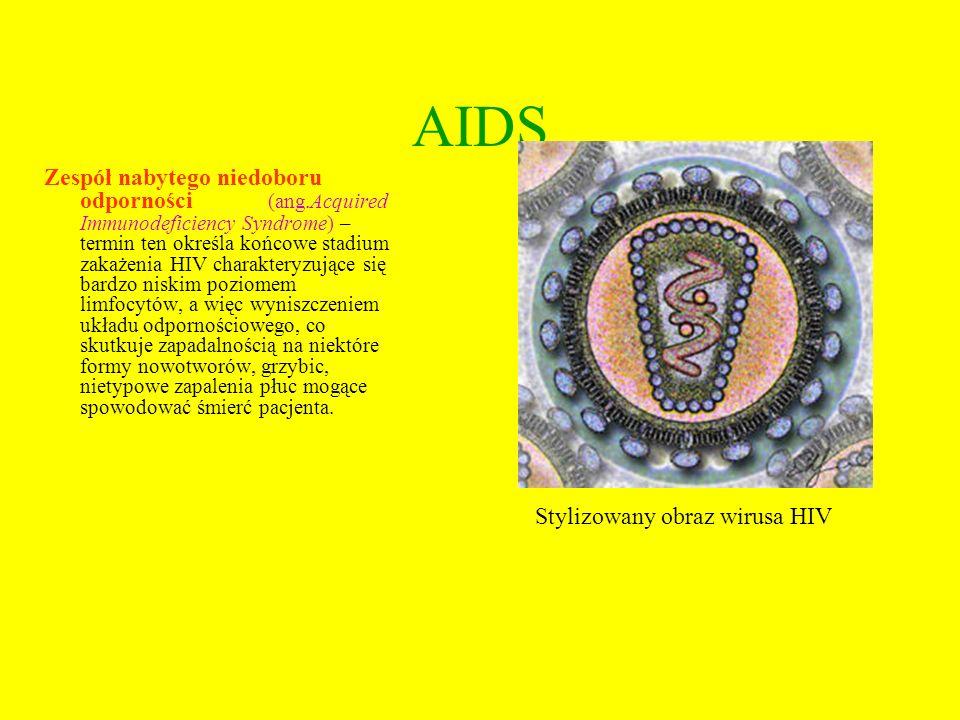 Drogi zakażeń wirusem HIV Wirus HIV przenosi się poprzez: -krew (najbardziej efektywna droga zakażenia) i produkty krwiopochodne, -drogę płciową, -mleko matki(udowodniono możliwość przeniesienia zakażenia tą drogą), przeniesienie z matki na dziecko (krew kobiety i dziecka nie mieszają się, jednak może do tego dojść np.