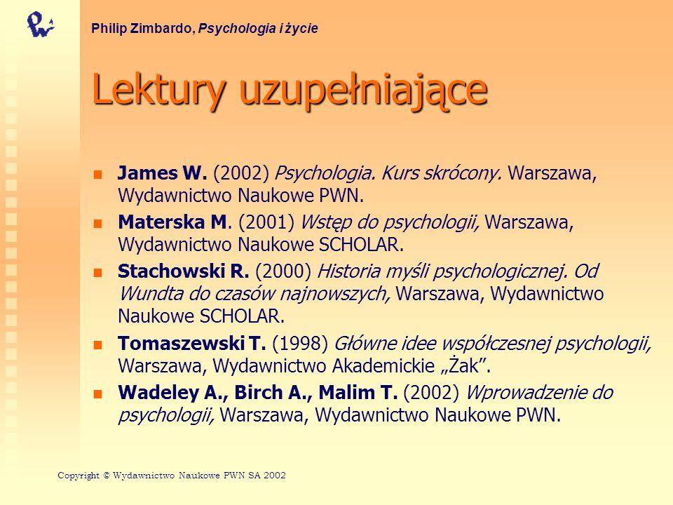 Lekturyuzupełniające Lektury uzupełniające James W.