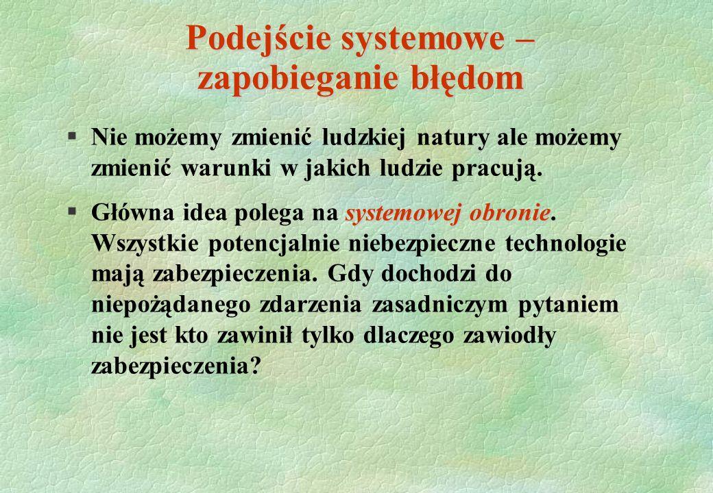§Nie możemy zmienić ludzkiej natury ale możemy zmienić warunki w jakich ludzie pracują. systemowej obronie §Główna idea polega na systemowej obronie.