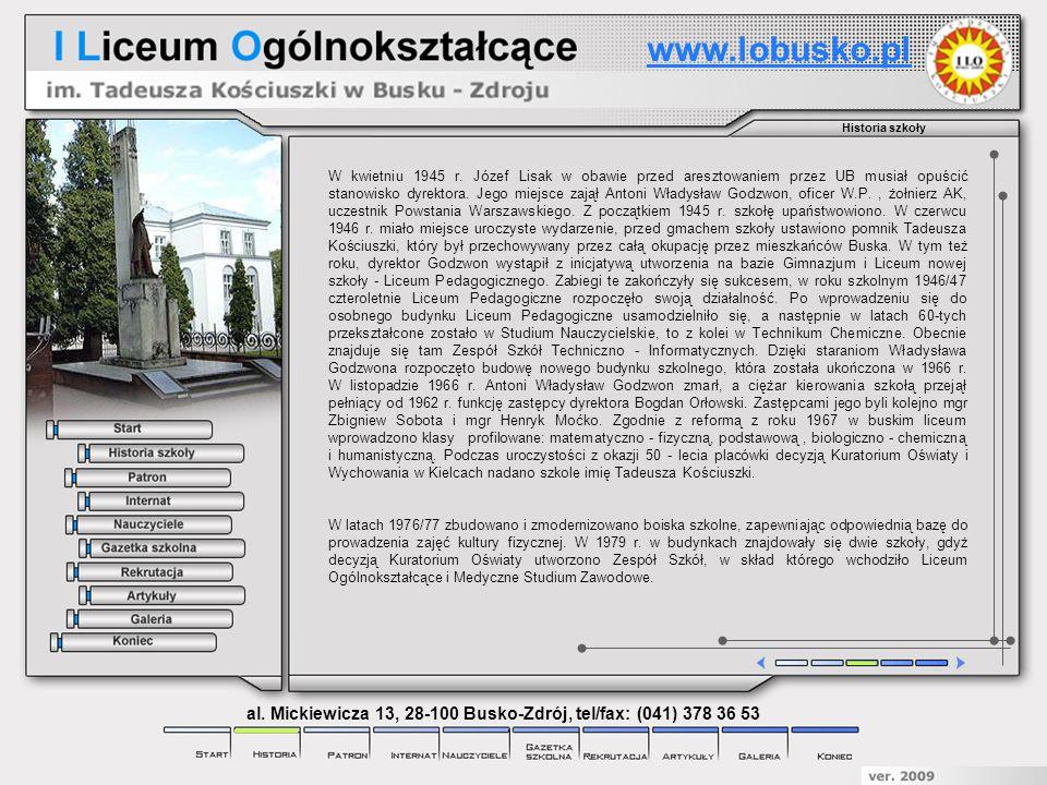 Gazetka szkolna Gazeta szkolna Spojrzenia powstała w 1993 roku.