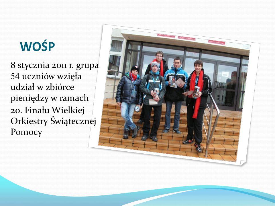 WOŚP 8 stycznia 2011 r. grupa 54 uczniów wzięła udział w zbiórce pieniędzy w ramach 20. Finału Wielkiej Orkiestry Świątecznej Pomocy