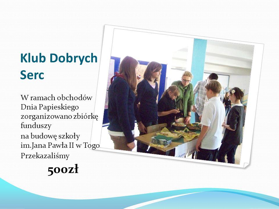 Klub Dobrych Serc Wolontariusze zorganizowali kiermasze dla uczniów i rodziców.