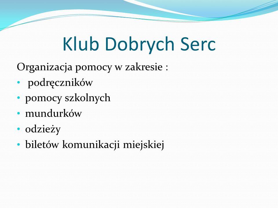 Klub Dobrych Serc We współpracy z nauczycielami biologii zbieramy plastikowe nakrętki.