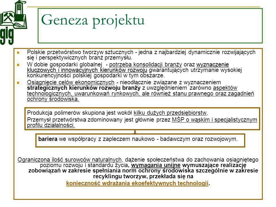 Geneza projektu Polskie przetwórstwo tworzyw sztucznych - jedna z najbardziej dynamicznie rozwijających się i perspektywicznych branż przemysłu. wyzna