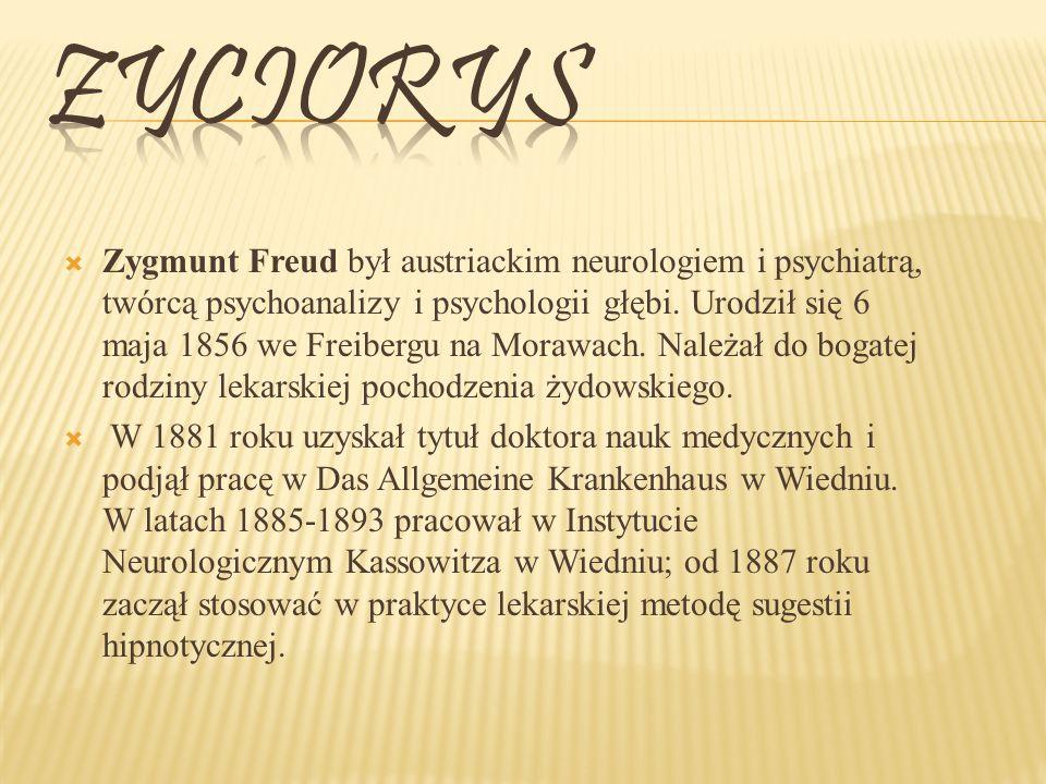 Zygmunt Freud był austriackim neurologiem i psychiatrą, twórcą psychoanalizy i psychologii głębi.