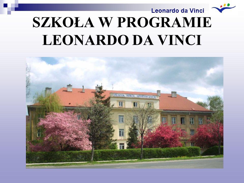 SZKOŁA W PROGRAMIE LEONARDO DA VINCI Leonardo da Vinci