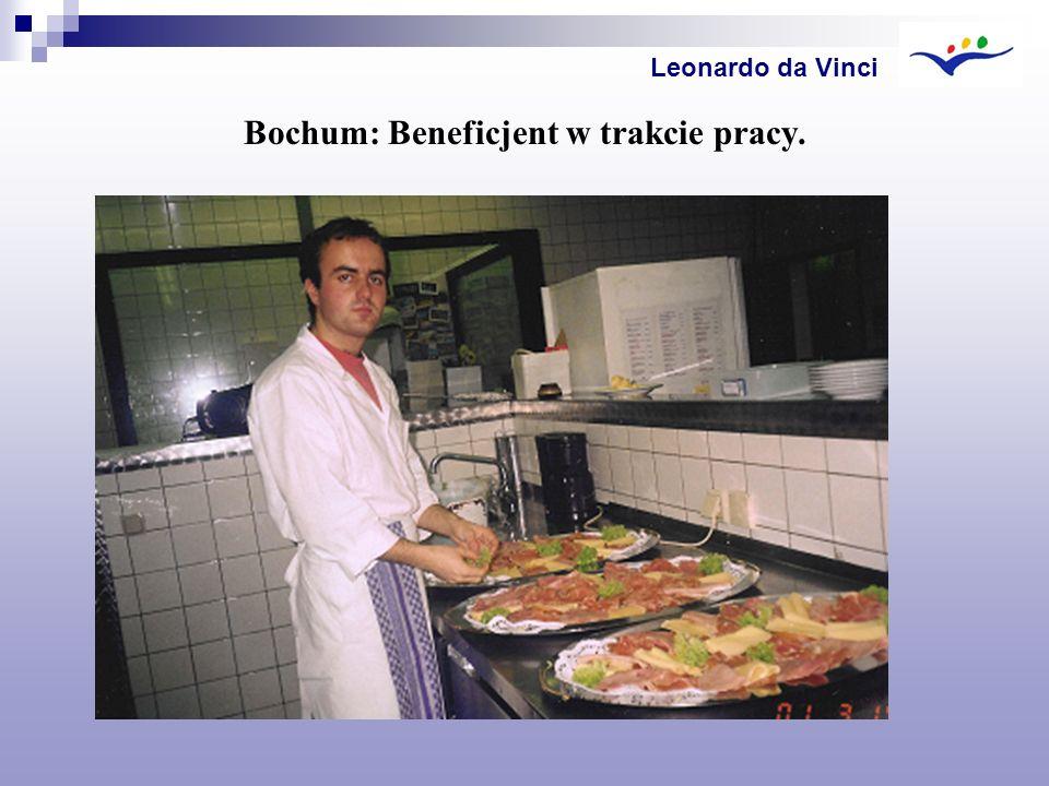 Bochum: Beneficjent w trakcie pracy. Leonardo da Vinci