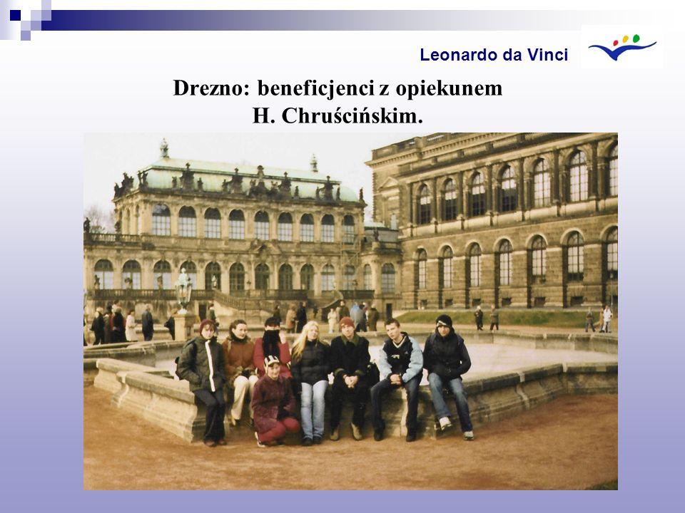 Drezno: beneficjenci z opiekunem H. Chruścińskim. Leonardo da Vinci