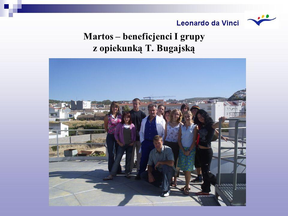 Martos – beneficjenci I grupy z opiekunką T. Bugajską Leonardo da Vinci