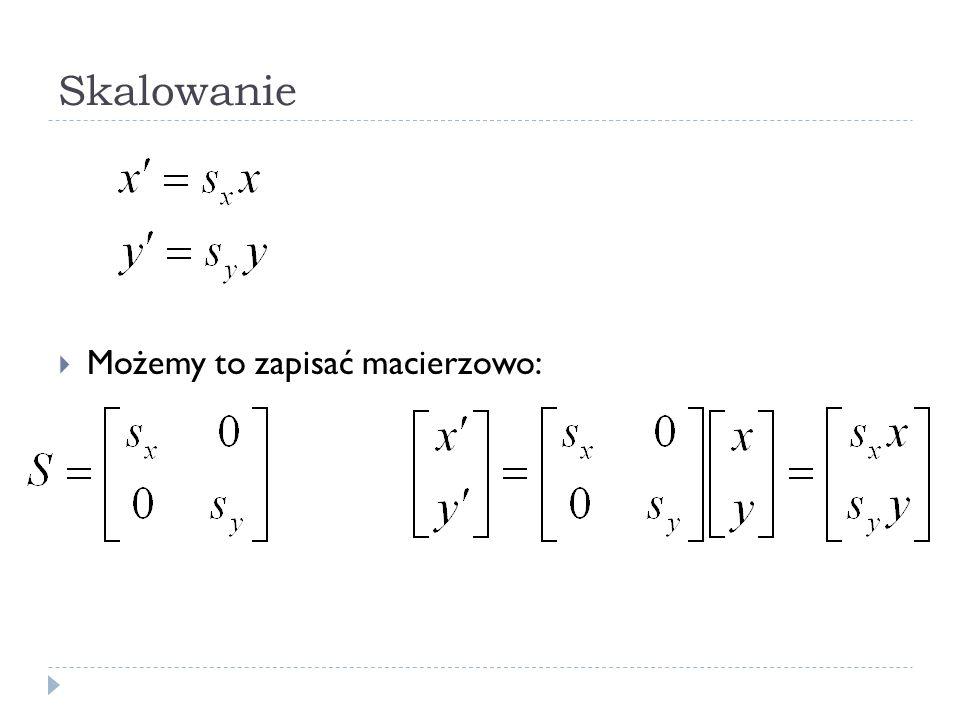 Nieruchomy układ współrzędnych Podstawy OpenGL Przykład: glMatrixMode(GL_MODELVIEW); glLoadIdentity(); glMultMatrixf(T); /* translation */ glMultMatrixf(R); /* rotation */ draw_the_object(); A co z układem lokalnym?