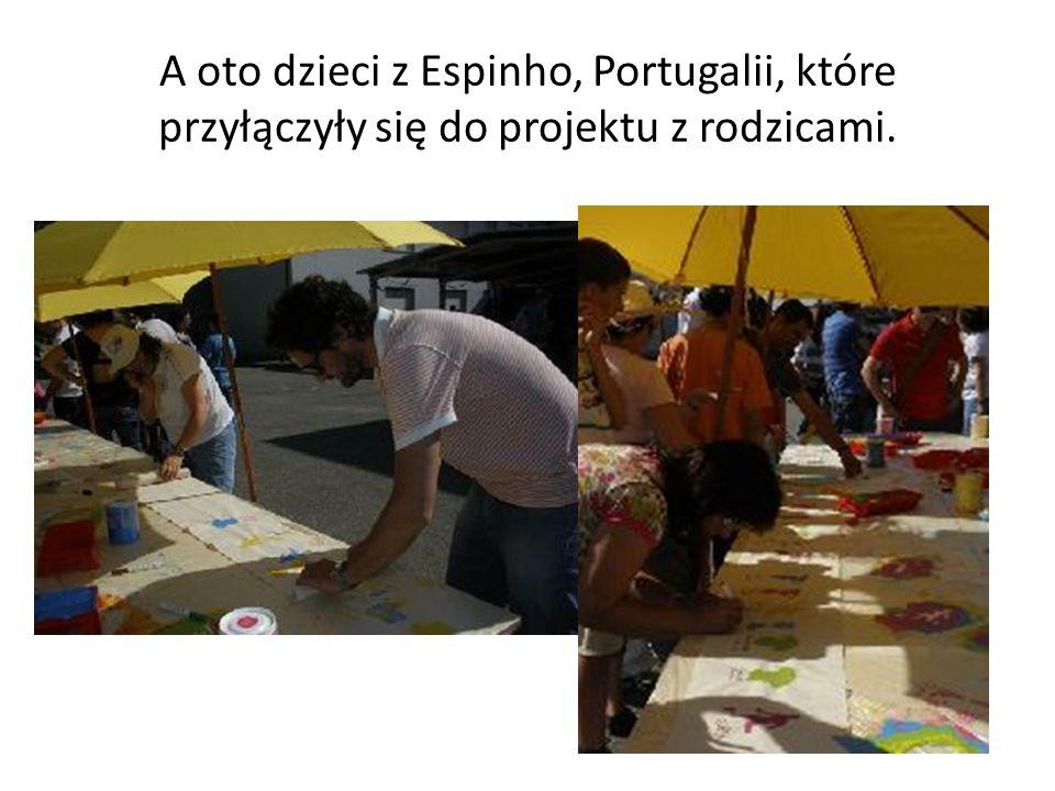 A oto dzieci z Espinho, Portugalii, które przyłączyły się do projektu z rodzicami.
