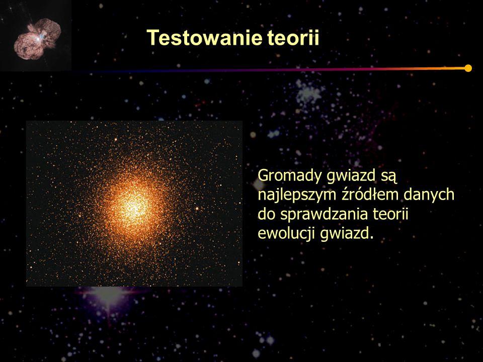 Gromady gwiazd są najlepszym źródłem danych do sprawdzania teorii ewolucji gwiazd. Testowanie teorii