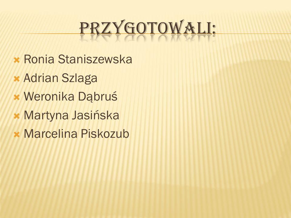 Ronia Staniszewska Adrian Szlaga Weronika Dąbruś Martyna Jasińska Marcelina Piskozub