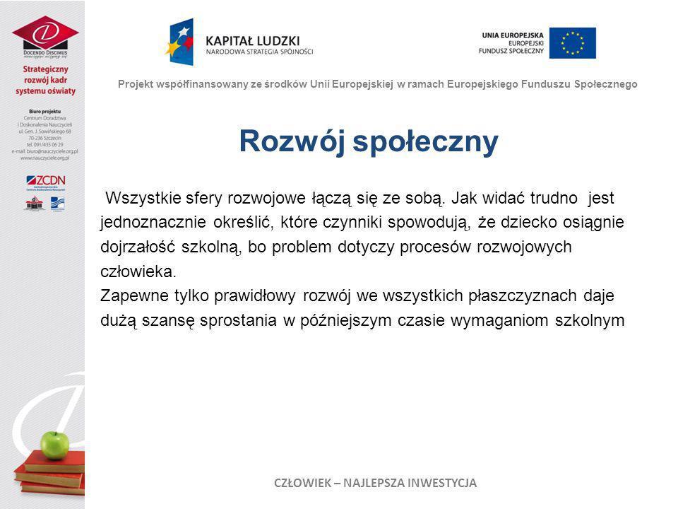 Dziękuję za uwagę Projekt współfinansowany ze środków Unii Europejskiej w ramach Europejskiego Funduszu Społecznego CZŁOWIEK – NAJLEPSZA INWESTYCJA