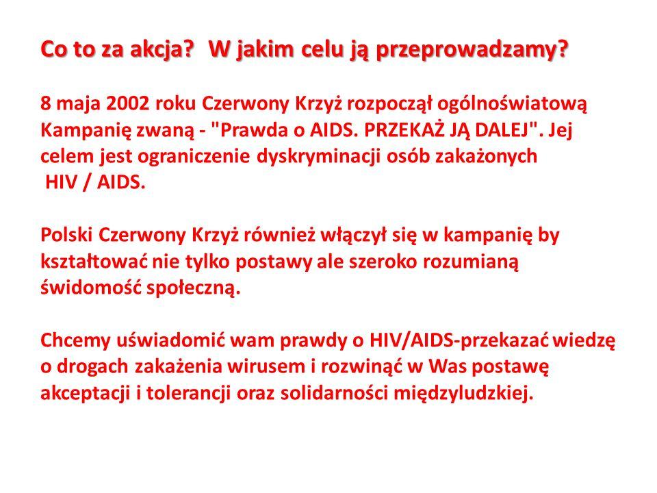 Co to za akcja? W jakim celu ją przeprowadzamy? 8 maja 2002 roku Czerwony Krzyż rozpoczął ogólnoświatową Kampanię zwaną -