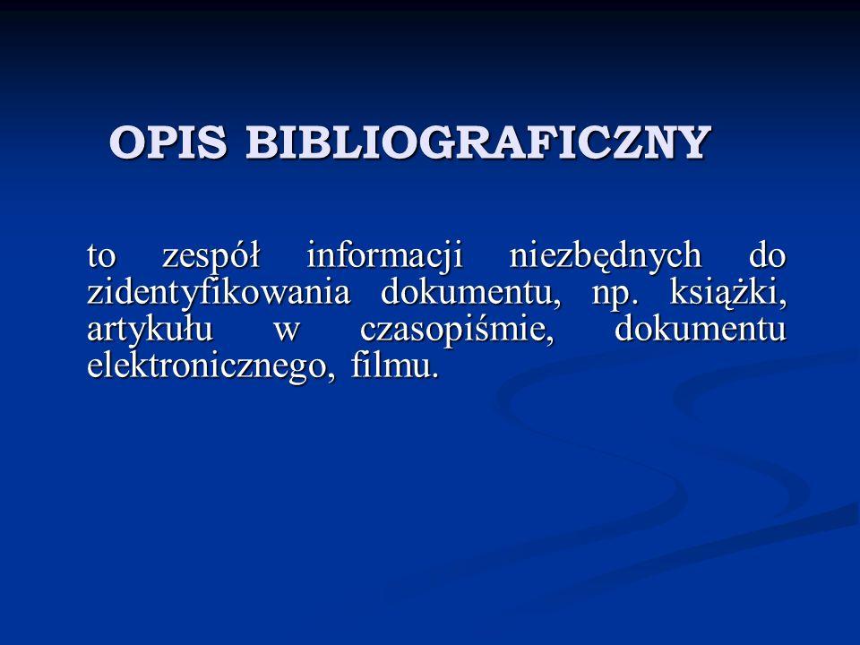 OPIS BIBLIOGRAFICZNY WYDAWNICTWA ZBIOROWEGO Mały słownik kultury dawnych Słowian, pod red.