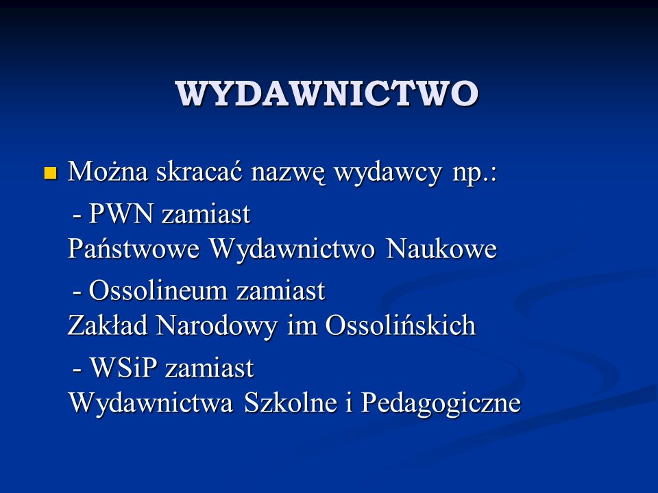 Przykład bibliografii TEMAT: Dramat polskich emigrantów w oparciu o utwory literatury romantycznej.