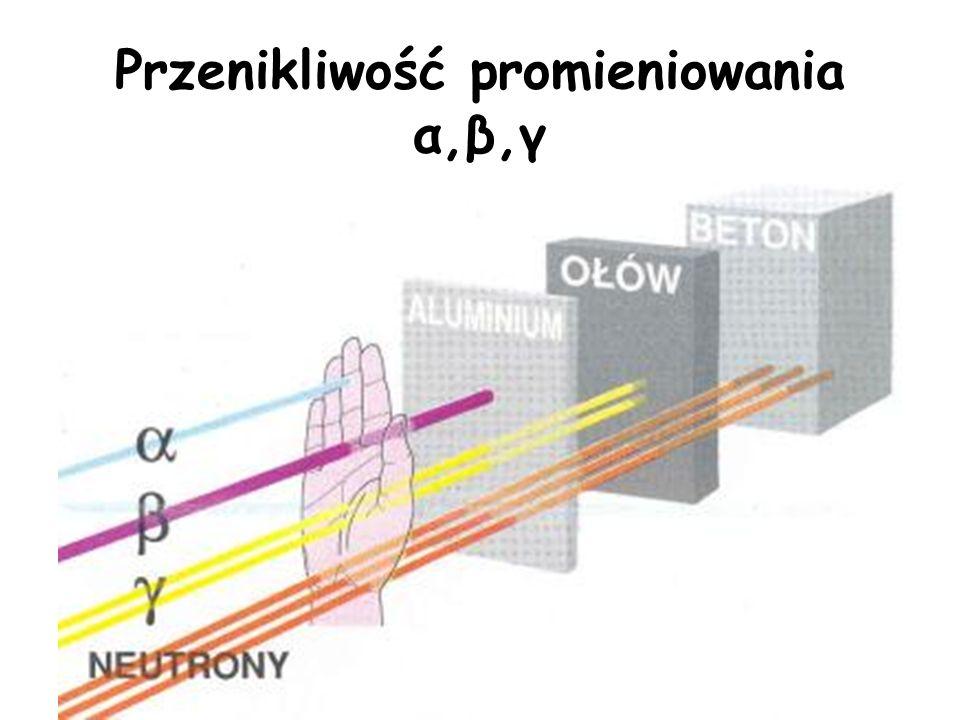 Promieniowanie γ Promieniowanie γ to fala elektromagnetyczna – strumień wysokoenergetycznych kwantów. Promieniowanie gamma towarzyszy zwykle emisji cz
