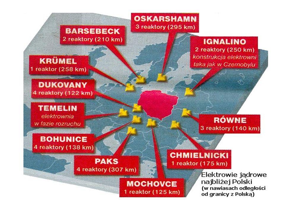 Koncentracja elektrowni atomowych w Europie