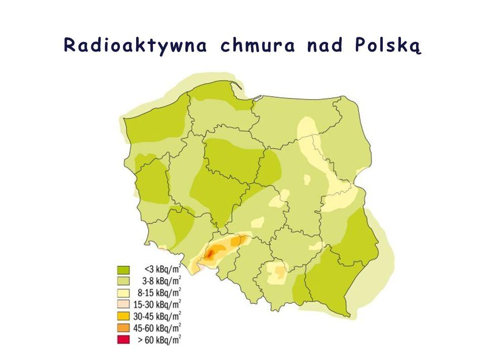 Radioaktywna chmura z Czarnobyla nad Światem