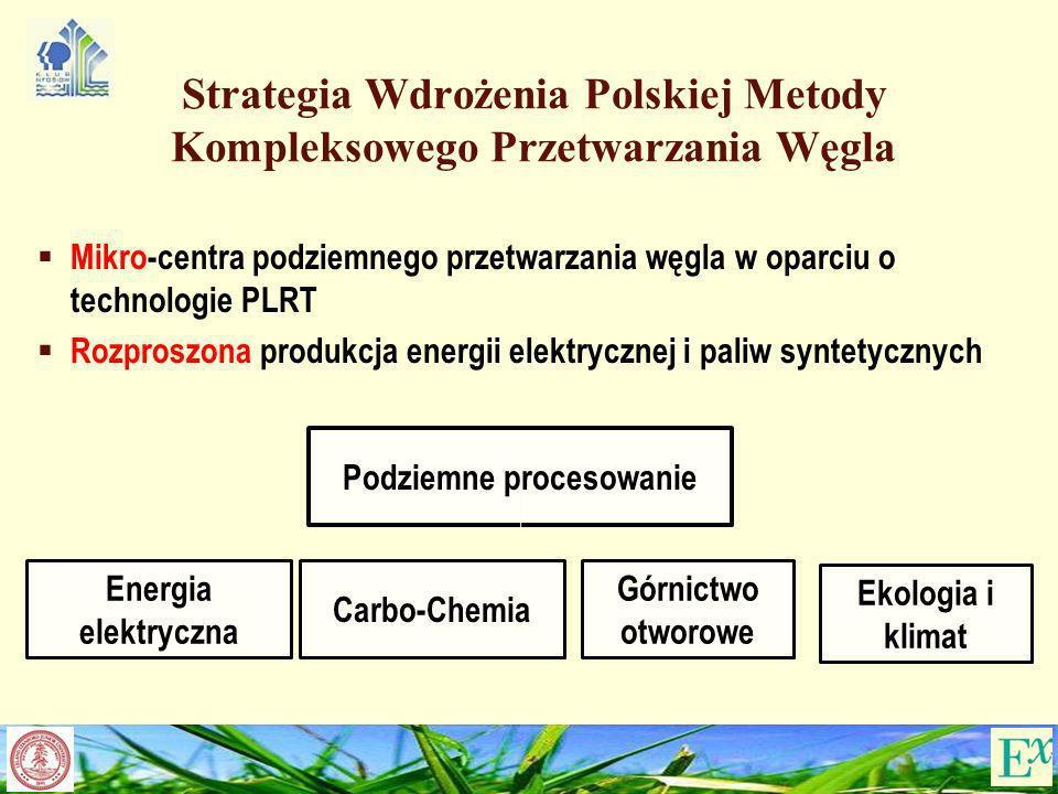 Strategia Wdrożenia Polskiej Metody Kompleksowego Przetwarzania Węgla Mikro-centra podziemnego przetwarzania węgla w oparciu o technologie PLRT Rozpro