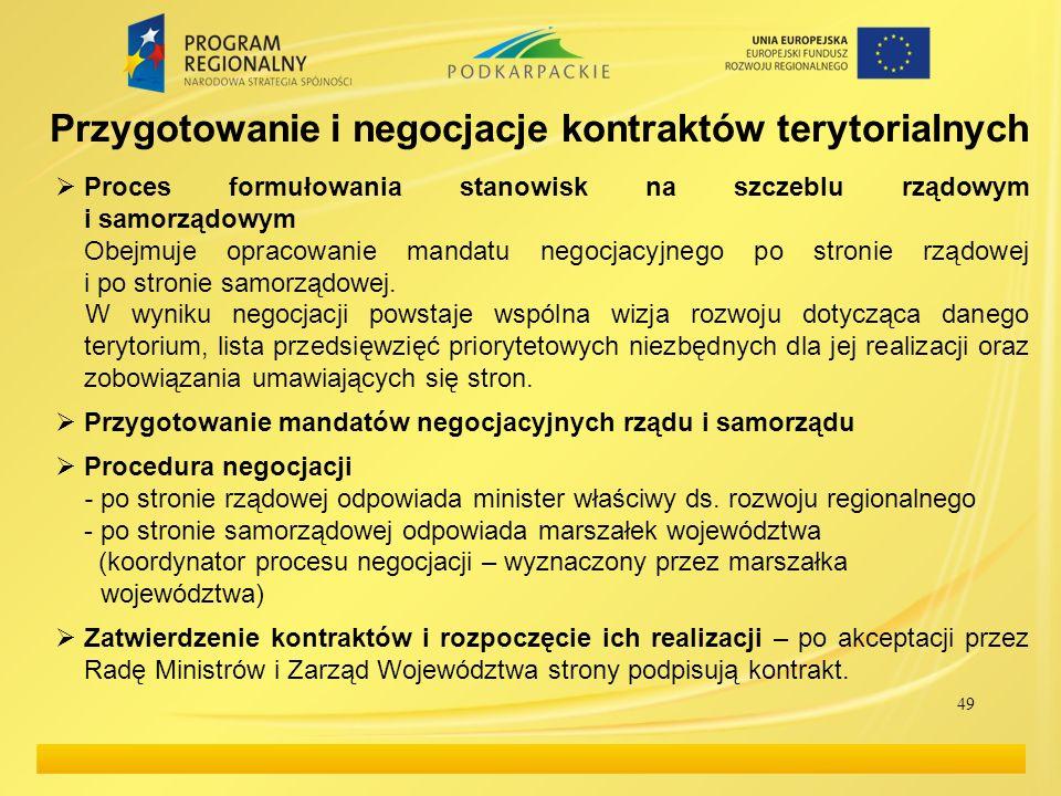 Proces formułowania stanowisk na szczeblu rządowym i samorządowym Obejmuje opracowanie mandatu negocjacyjnego po stronie rządowej i po stronie samorządowej.