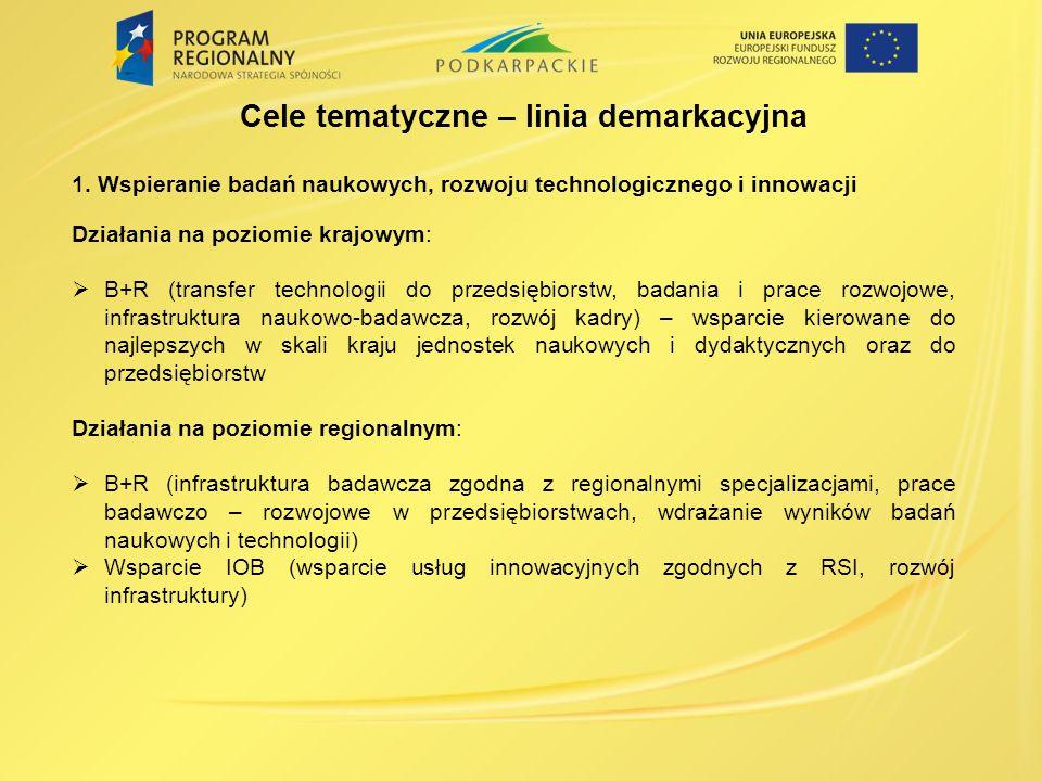 Nabór przedsięwzięć priorytetowych o kluczowym znaczeniu dla rozwoju województwa podkarpackiego w perspektywie 2014-2020 Termin naboru: 17 lipca – 21 sierpnia 2013r.