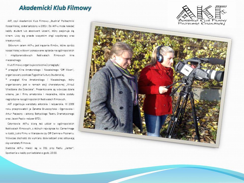 Akademicki Klub Filmowy AKF, czyli Akademicki Klub Filmowy Studnia Politechniki Koszalińskiej, został założony w 2001r. Do AKF-u może należeć każdy st