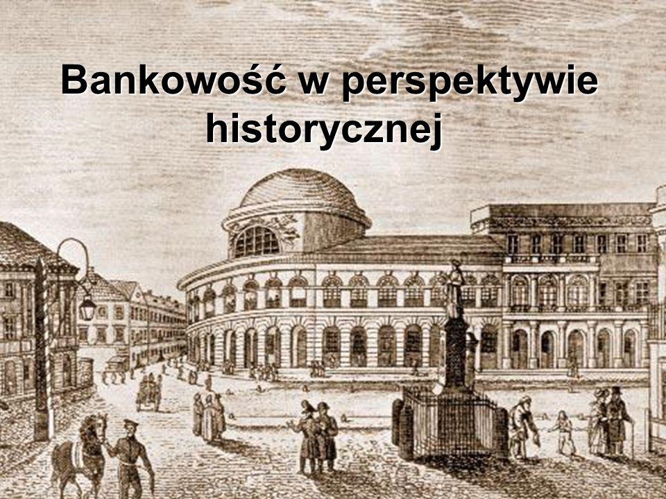 Rodzajowy Spis treści Historia Bankowości Centralnej na Ziemiach Polskich Wybitne osobistości Architektura Warszawy związana z bankowością Najstarsze instytucje finansowe