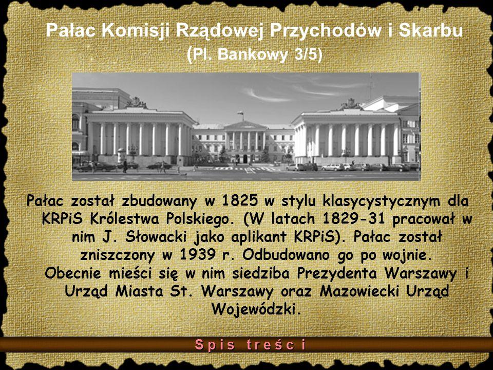 Pałac Komisji Rządowej Przychodów i Skarbu ( Pl.