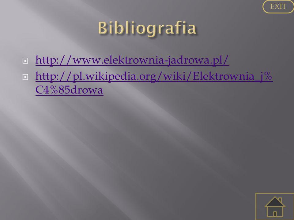 http://www.elektrownia-jadrowa.pl/ http://pl.wikipedia.org/wiki/Elektrownia_j% C4%85drowa http://pl.wikipedia.org/wiki/Elektrownia_j% C4%85drowa EXIT