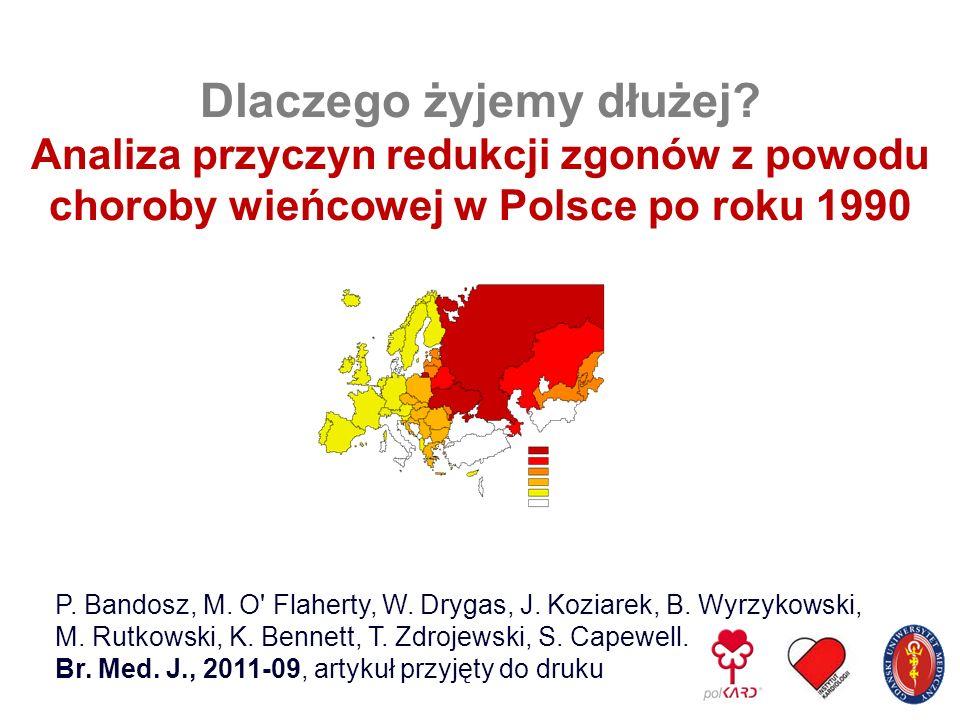 P. Bandosz, M. O' Flaherty, W. Drygas, J. Koziarek, B. Wyrzykowski, M. Rutkowski, K. Bennett, T. Zdrojewski, S. Capewell. Br. Med. J., 2011-09, artyku