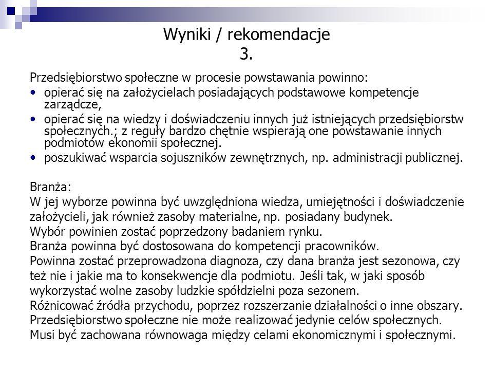 Wyniki / rekomendacje 3.