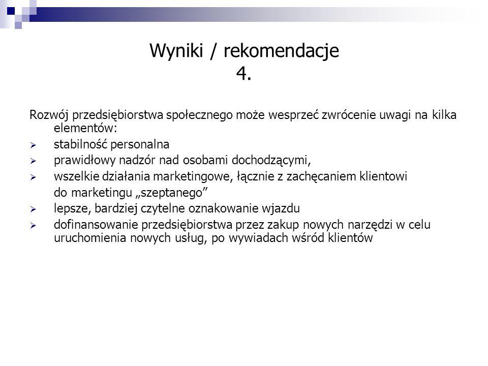Wyniki / rekomendacje 4.