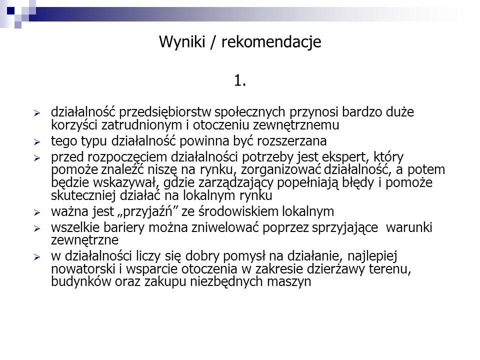 Wyniki / rekomendacje 1.